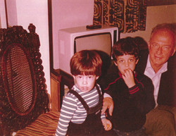 Yitzhak Rabin with grandchildren