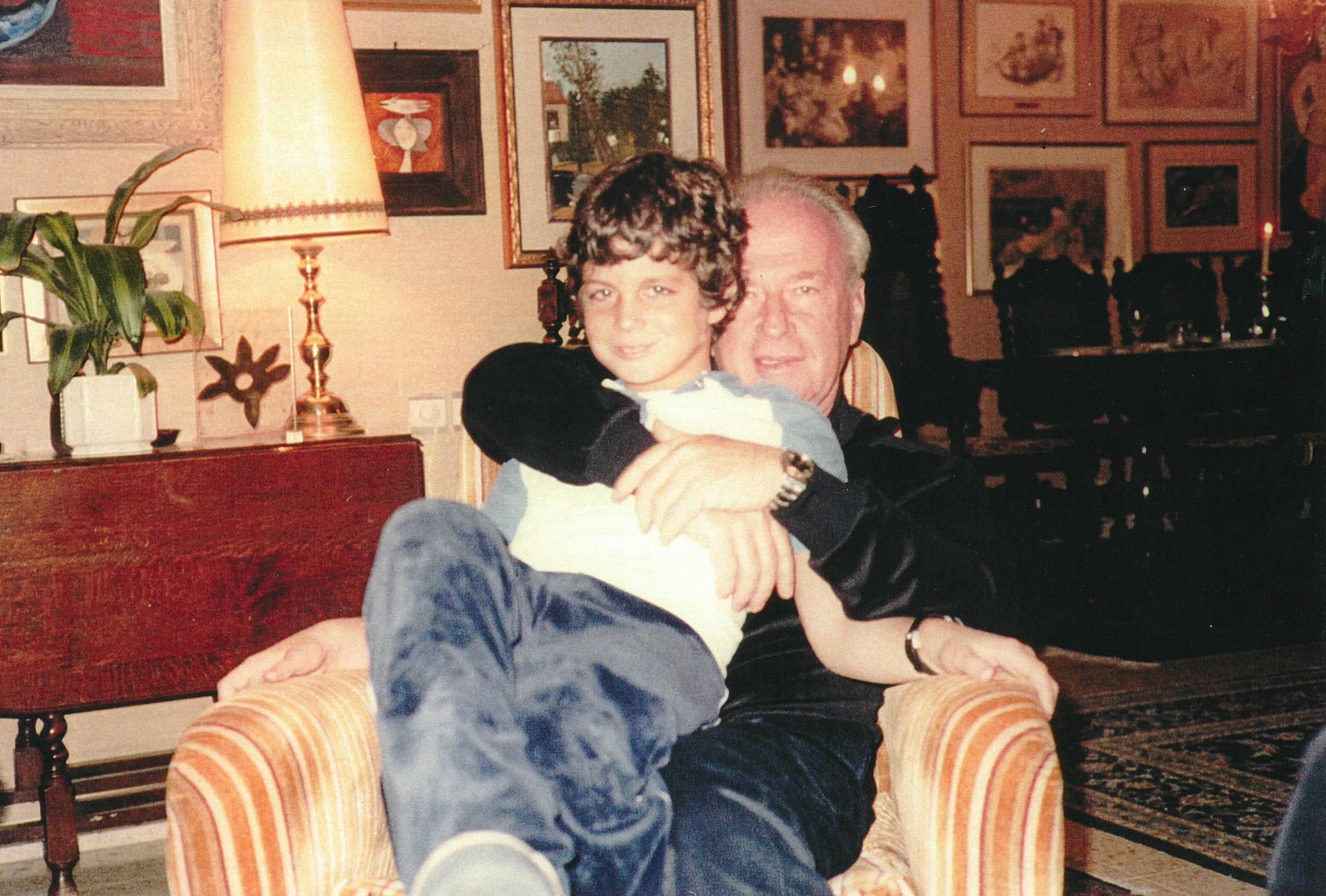 Rabin with grandchild Michael
