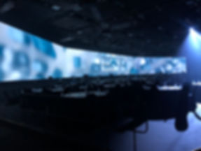 Big conference room with large LED screen