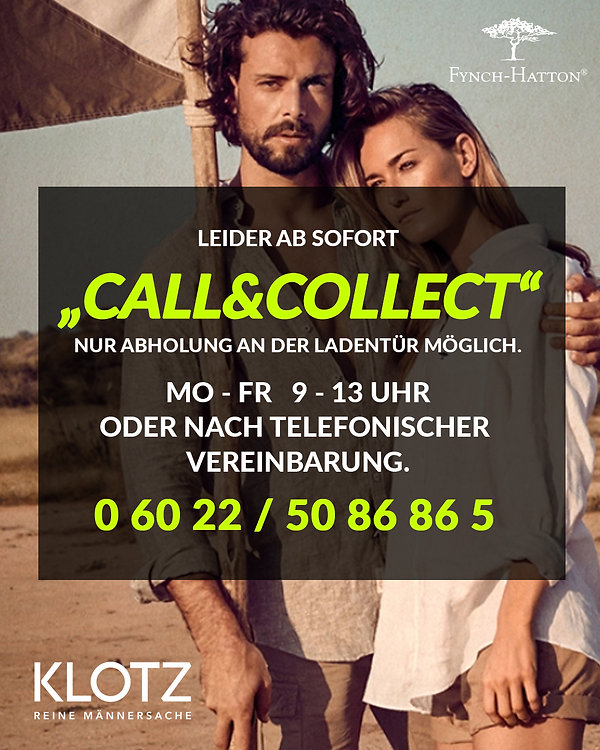 Leider ab sofort CALL&COLLECT Instagram.