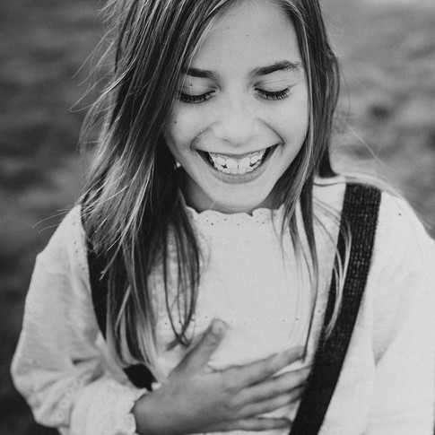 Portrait of Little Girl Laughing