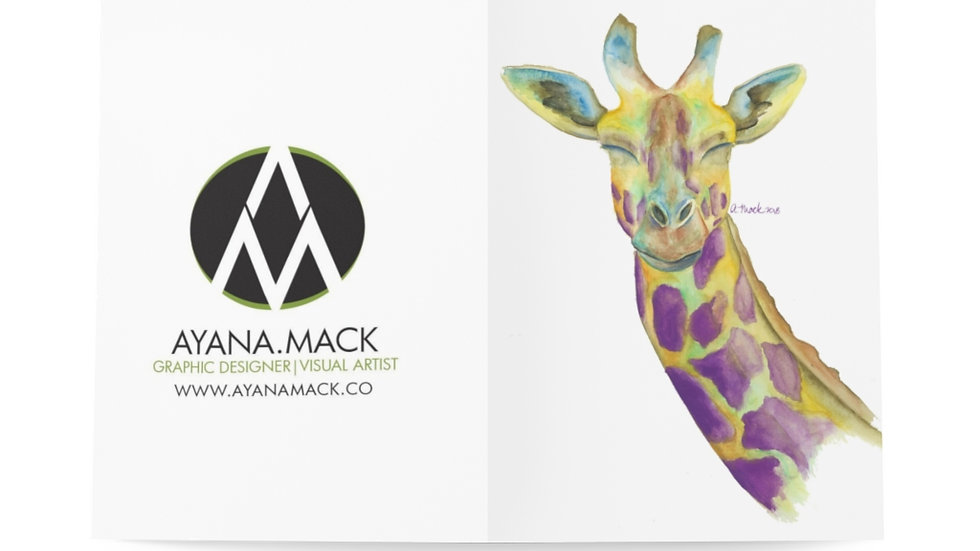 Giraffe  - Greeting Cards (8 pcs)