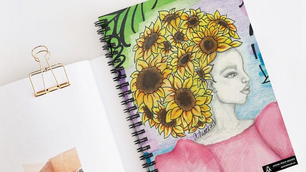 Sunflower - Journal - Ruled Line