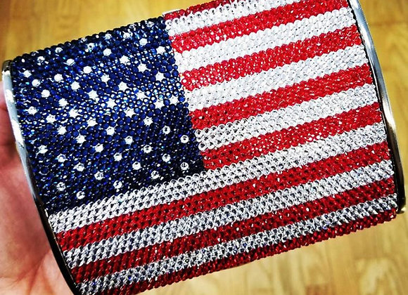 American Flag Crystal Clutch