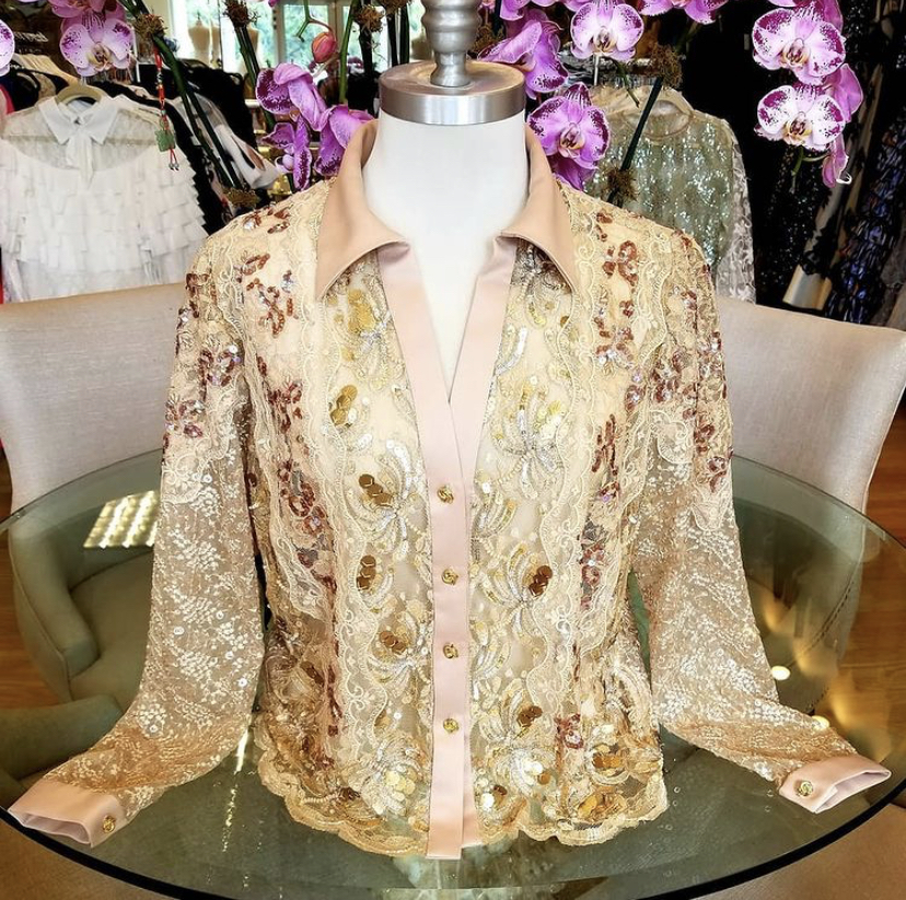 One of a kind lace blouse