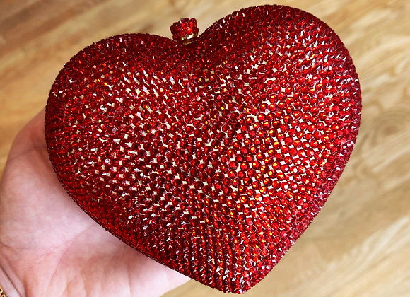 Red Heart Crystal Clutch