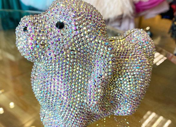 AB Crystal Puppy Clutch