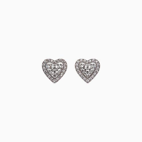 Sweetheart Halo Earring  by Hillberg & Berk  Silver