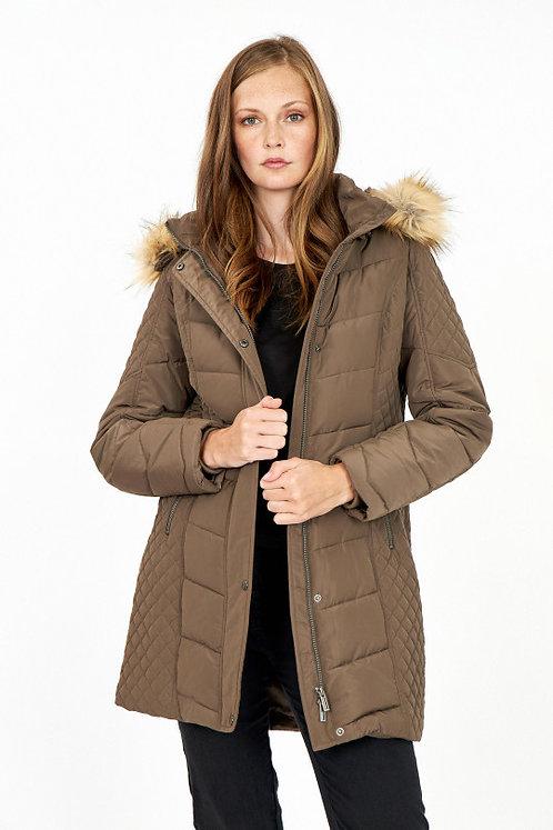 Mid length Coat by Soyaconcept NINA w/hood