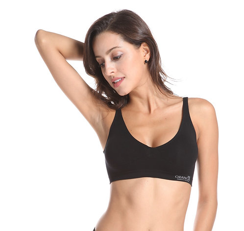Shaper Crop Bra  by Bamboo/Orange  BT-1102