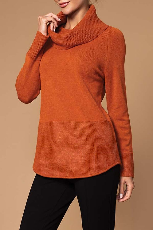 Cowl neck Sweater by Elena Wang   25063