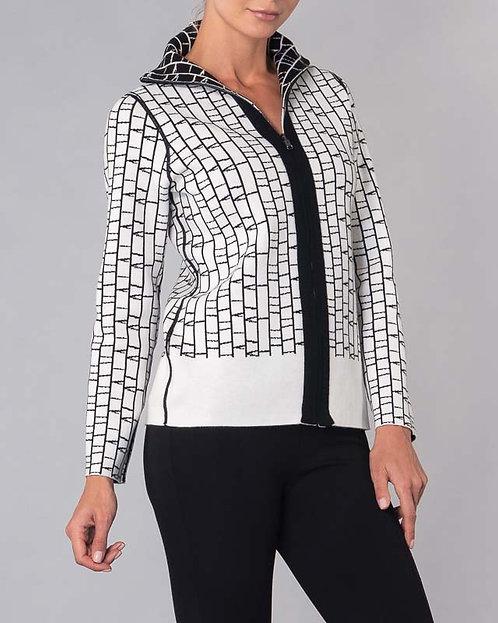 Reversible Cardigan, Full Zipper     Elena Wang EW23085