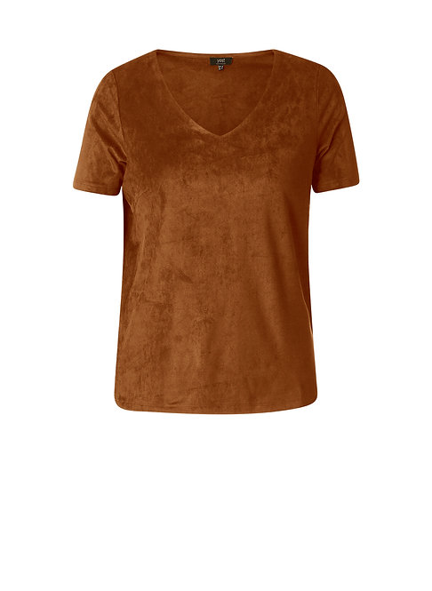 Faux Suede T by YEST   000111