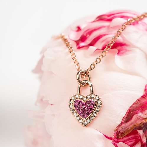 Sweetheart Necklace by Hillberg & Berk   Fuchsia or Silver