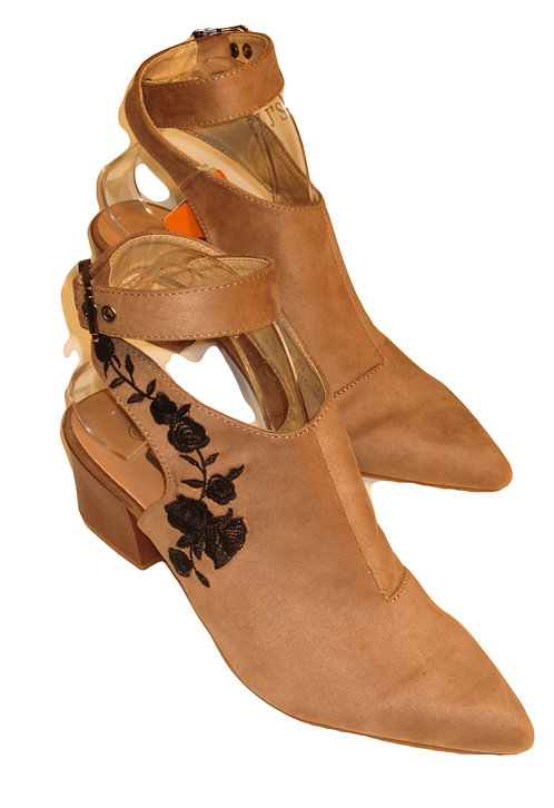Faux Suede Boot by JJ's B-154