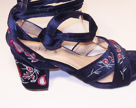 Velvet Wrap Heel by JJ's  S-861