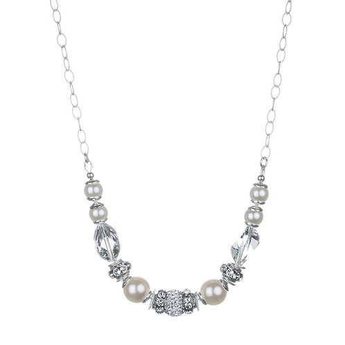 Sparkle and Pearl Necklace by Hillberg & Berk