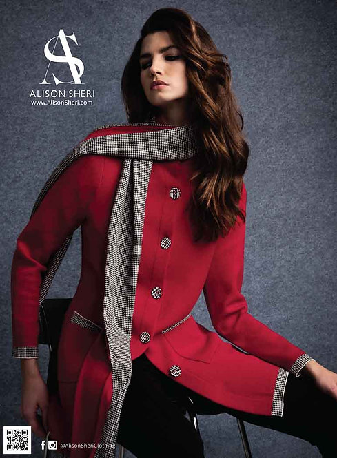 Coat & Scarf by Alison Sheri   A36038