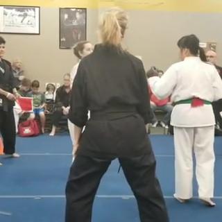 Nikki fighting at the tournament, part 2