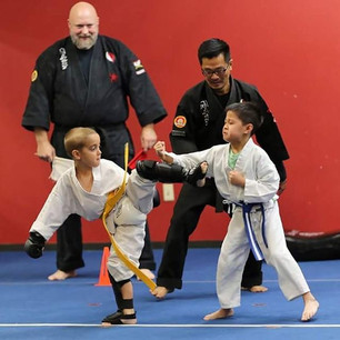 My student Oliver with a huge side kick.