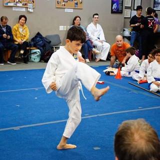 Elijah performing his material at the to