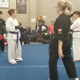Nikki fighting at the tournament. So pro