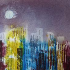 Luna piena sulla città