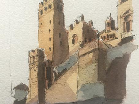 Sketching in Monferrato