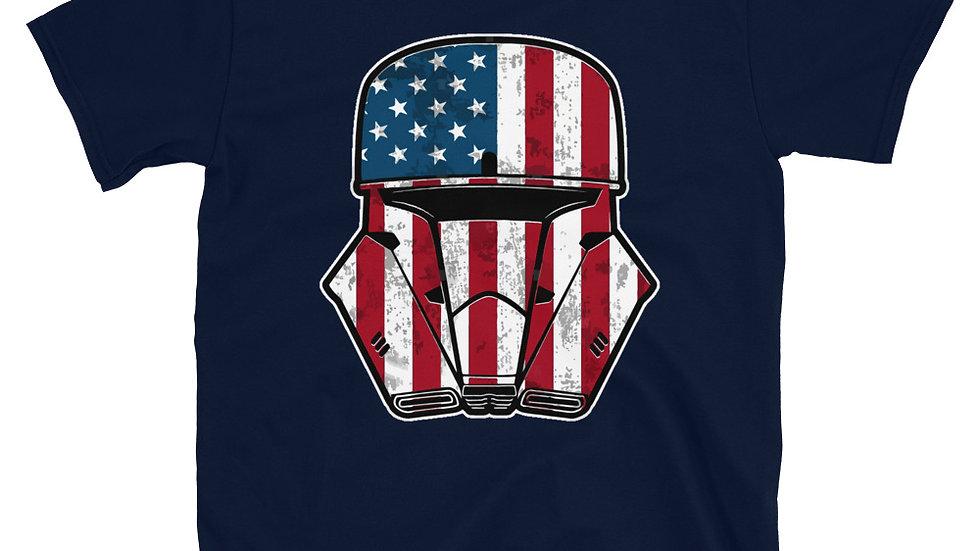 Storm Trooper American Flag Short-Sleeve Unisex T-Shirt