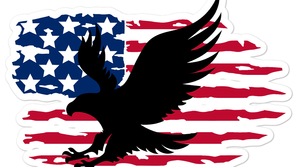 American Flag with Bird Bubble-free stickers