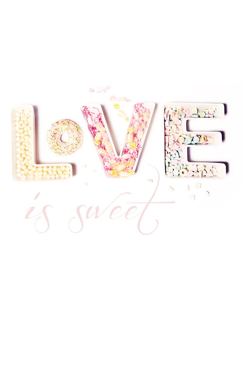 DEKORACJA LOVE IS SWEET