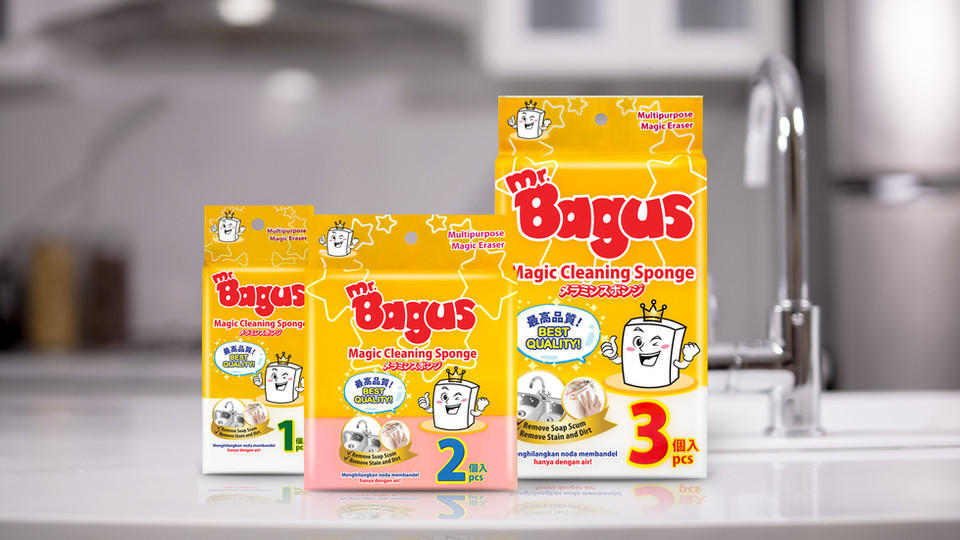 mr. bagus magic cleaning sponge