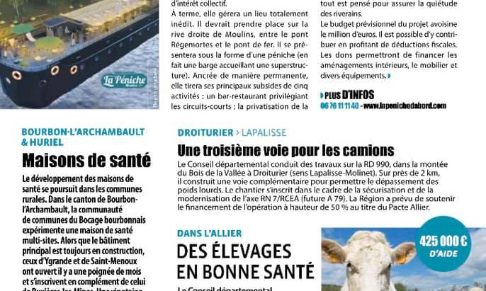 BEL ARTICLE SUR REFLETS D'ALLIER