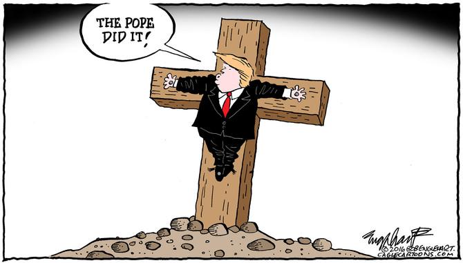 Pope Excommunicates Trump