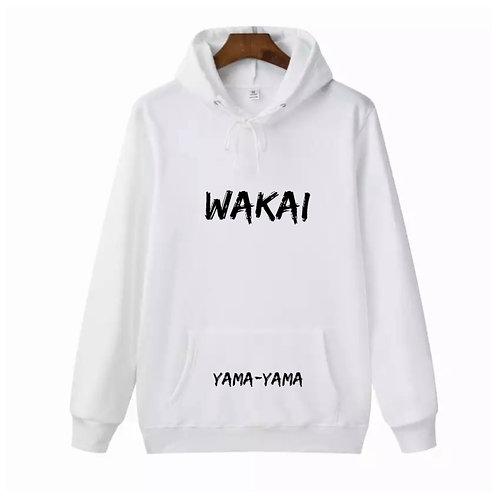 White Wakai Yama-Yama Hoodie