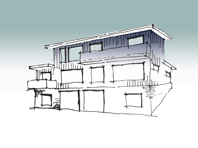 Exterior Perspective Sketch (rear)