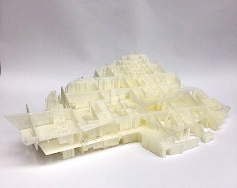 3D Model printed, no skin