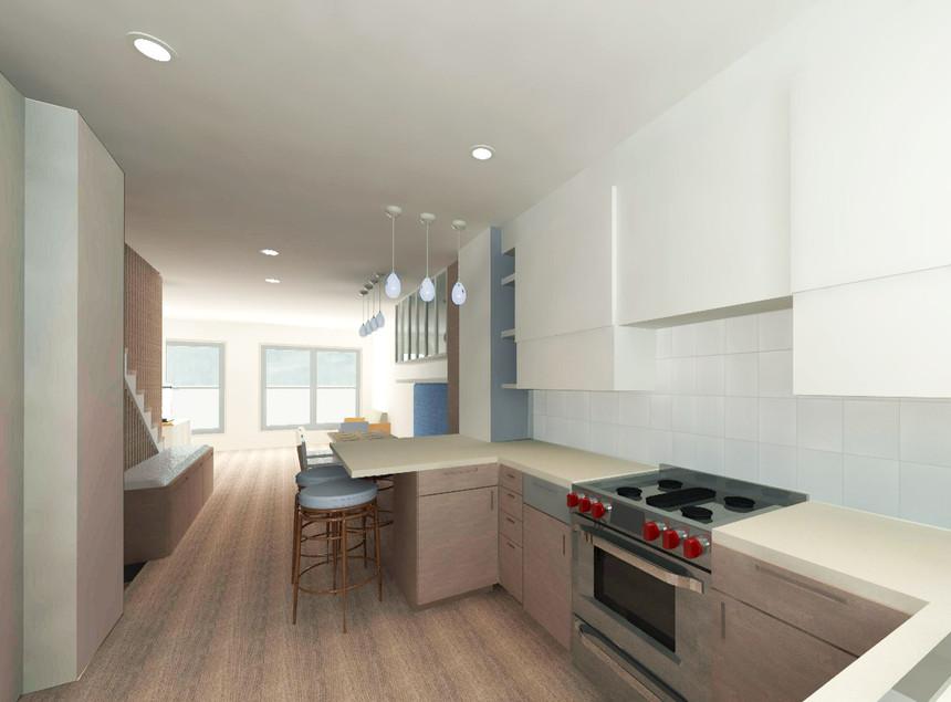 Navy Yard Design - Kitchen Rednering
