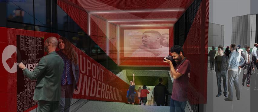 Entrance Close-up & Dupont Underground Art Display