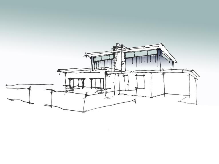Exterior Perspective Sketch