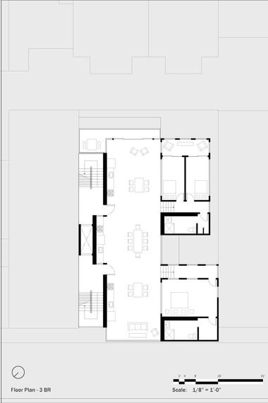 Residential Floor Plan (3 BRs)