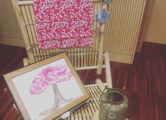 """Peinture au cheveu """"Le Cerisier"""""""