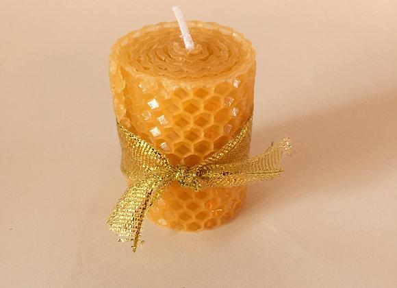 Bougie cire d'abeille gauffrée