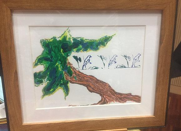 """Peinture """"L'arbre"""""""