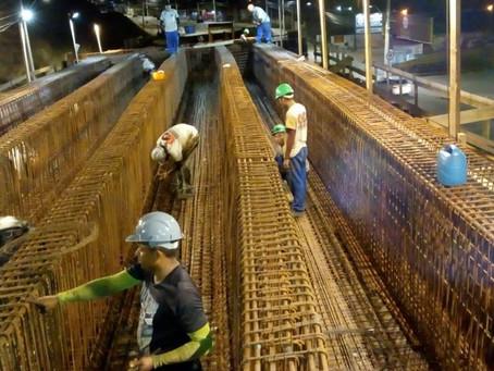 Obra do elevado do Rio Tavares ganha mais um turno de trabalho