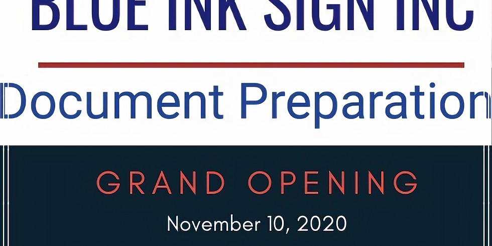 Blue Ink Sign Inc. Grand Opening 100 Wills for 100 Veterans
