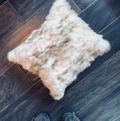 Rabbit fur pillow