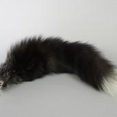 Silver fox fur tail keychain