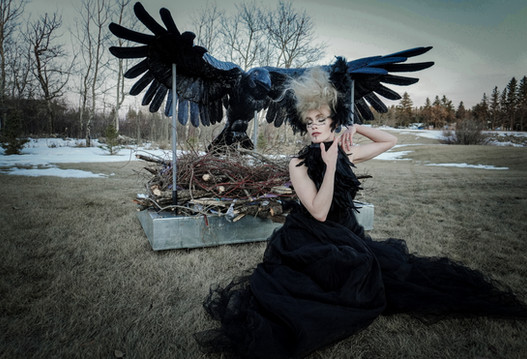 Within the Raven's Shadow Sculpture by Michelle Thevenot