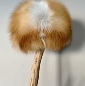 Red fox fur hat